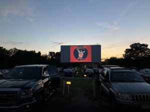 parked cars watching bugs bunny at bengies drive-in theatre