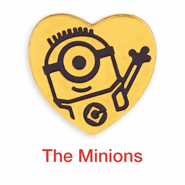 minions gold heart pin for sale