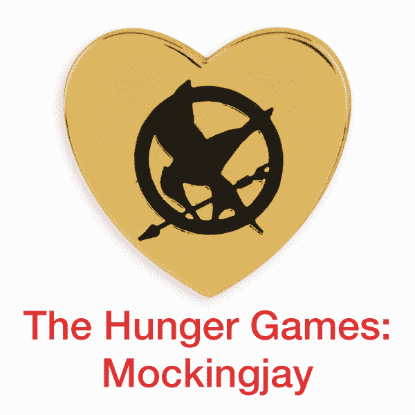 hunger game: mockingjay gold heart pin for sale