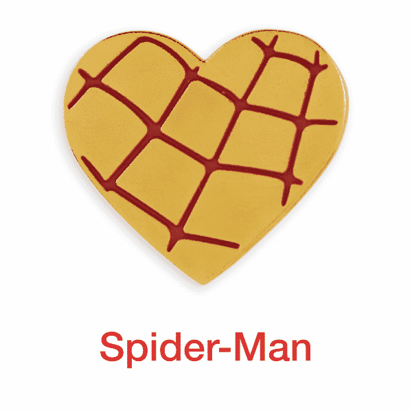 spider man gold heart pin for sale