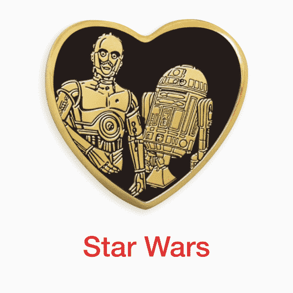 star wars gold heart pin for sale